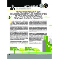 Derecho y Negocios. Basic aspects to be considered by creditors of renewable energy projects in El Salvador