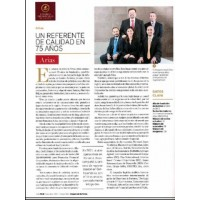 Estrategia & Negocios. Arias: A benchmark of quality in 75 years